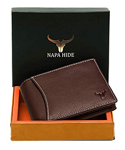 High Quality Leather Wallet for Men (Brown)