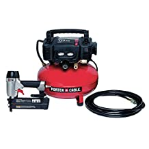 6-Gal. Portable Electric Air Compressor and 18-Gauge Brad Nailer Combo Kit (PCFP12236) by PORTER-CABLE