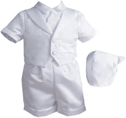Lauren Madison Baby Boy Christening Baptism Infant Vestie Set With Short