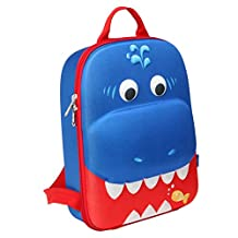 Yodo 3D Toddler Backpack Playful Lunch Bag - Hard Shell Series Picnic Cooler, Shark