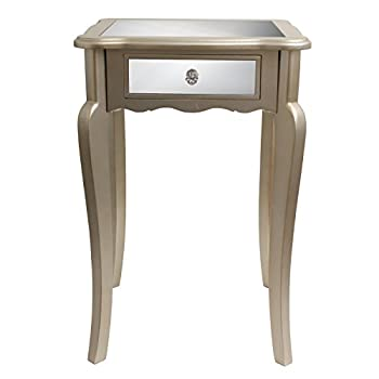Décor Therapy FR1793 Mirrored Side Table, Silver Finish