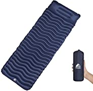 Unigear Ultralight Inflatable Sleeping Pad, Compact Air Camping Mat for Backpacking, Hiking and Traveling (Nav