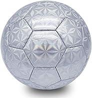 Champhox Kids Glitter Soccer Ball Size 4 with Ball Pump, Teens Sports Ball Toddlers Indoor Outdoor Ball for Ki