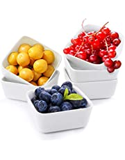 Ceramic Snack Serving Tray with Tray Serving Set with Bamboo Lids and Pallets Removable Ceramic Compartment Bowls with Snacks, Condiments, Moisture-Proof Bowls for Food, Appetizers