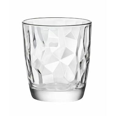 Bormioli Rocco Diamond Double Old Fashioned Glasses, Clear, Set of 6