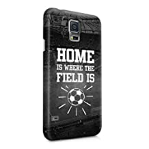 Soccer Football Field Stadium Home Is Where The Field Is Motivation Quote Plastic Phone Snap On Back Case Cover Shell For Samsung Galaxy S5 Mini
