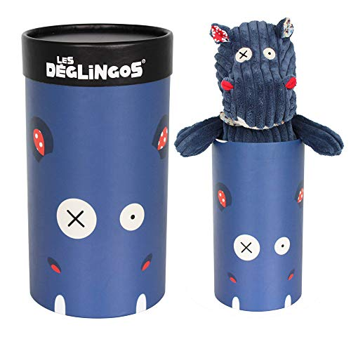Pelúcia Simply Hippipos o Hipopótamo, Deglingos, Azul