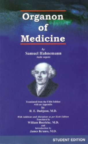 Organon of the medical art 6th edition rsv and steroids