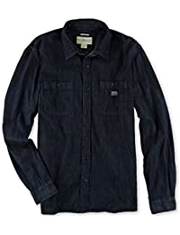 Mens Denim Workshirt Button Up Shirt