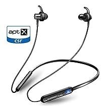 【APT-X&AAC対応+マグネット搭載】Bluetooth イヤホン スポーツ ブルートゥース イヤホン 9.5時間連続再生 IPX6防水 ワイヤレス イヤホン マイク付き CVC6.0ノイズキャンセリング Bluetooth ヘッドホン 日本語音声提示 iPhone、iPod、Android用 Joyhouse
