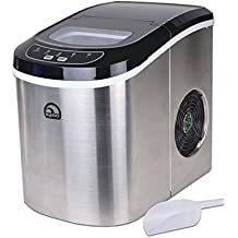 Igloo Stainless Steel Portable Countertop Ice Maker w/ Ice Scoop - ICE105B (Certified Refurbished)