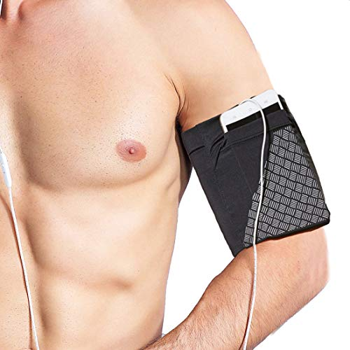 Universal Sports Armband for All Phones. Cell Phone Armband for Running, Fitness and Gym Workouts (iPhone X/8/7/6/Plus,Samsung Galaxy S9/S8/S7/S6/Edge/Plus & LG, Google & More) Black M