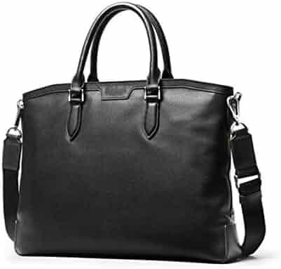 Black Size: 38528cm Leather Mens Shoulder Messenger Bag Suitable for All Occasions Color : Black 8haowenju Briefcase