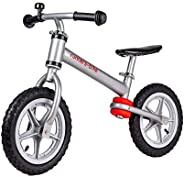 RUNNERS-BIKE - Ultralight Aluminum Balance Bike - Silver - Ages 2-5 - Training Bicycle Without Pedals - Adjust