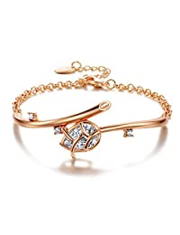 UMODE Jewelry Trendy Tulip 3.44 Carat Pear Cut Cubic Zirconia Cz Bracelet for Women