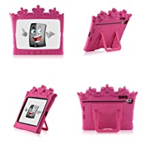 Castle Kid and Children Case Cover and Stand Kido Pink Light Weight Shock Proof Handle Case for Kids iGuy Made for iPad mini / Mini Retina 7.9 Tablet - Pink