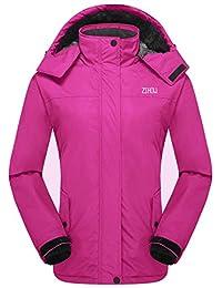 ZSHOW Women's Waterproof Ski Jacket Windproof Insulated Fleece Jacket