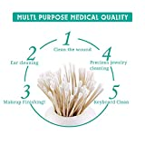 200 PCS Long Wooden Cotton Swabs, Cleaning Cotton