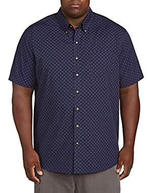by DXL Big and Tall Easy-Care Circle Print Sport Shirt