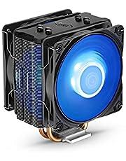 مبرد وحدة المعالجة المركزية ديب كول جاماكس 400 برو بإضاءة LED ازرق ومروحة مزدوجة PWM 120 ملم لأحدث منافذ انتل/ايه ام دي