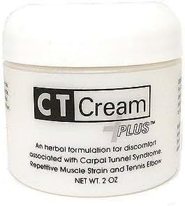 Ct Cream Plus Carpal Tunnel Cream for Pain Relief - Carpal Tunnel Syndrome , Arthritis, Tendonitis, Buristis 2 Oz