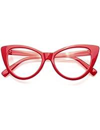 Super Cat Eye Glasses Vintage Fashion Mod Clear Lens Eyewear