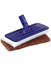 """Tolco 280167 Threaded Swivel Pad Holder with 2 Pads, 9"""" Height, 1.5"""" Width, Blue/White/Brown"""