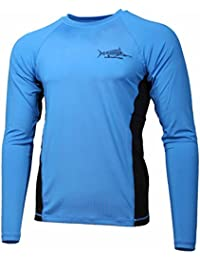 "<span class=""a-offscreen"">[Sponsored]</span>Men's SPF-50 Fast Dry Snag Proof Long Sleeve Fishing Shirt (Small, White Lobster)"