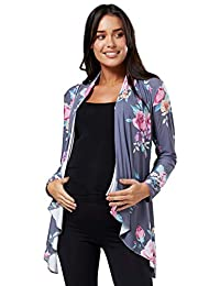 Zeta Ville Womens Pregnancy Maternity Waterfall Jacket Cardigan Blazer Top 320c
