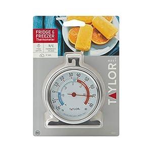 Midea MRC04M3AWW Single Door Chest Freezer, 3.5 Cubic Feet, White & Taylor Classic Series Large Dial Fridge/Freezer Thermometer (Color: White, Tamaño: 3.5 Cubic Feet)