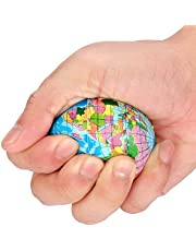 TIK Tok Hot Stress Relief World Map - Foam Ball Atlas Globe Palm Ball Planet Earth Ball for Adults and Kids - 2.4 inch(2pcs)