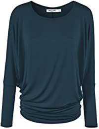 LL Womens Long Sleeve Batwing Dolman Top - - Made in USA