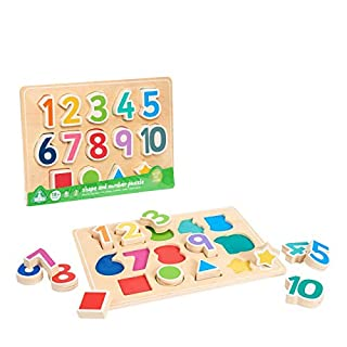 Early Learning Centre Shape & Number Puzzle, Amazon Exclusive