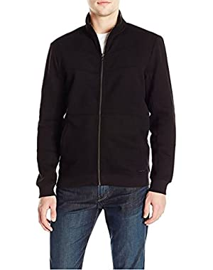 Calvin Klein Jeans Men's Charcoal Zip-Up Fleece Jacket