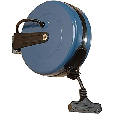 12-Gauge Retractable Extension Cord Reel