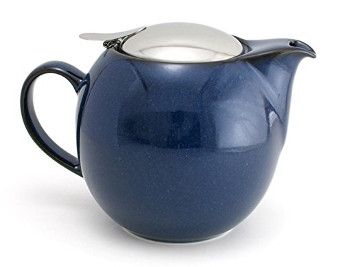 ZEROJAPAN 23 oz Round Teapot with SLS Lid and Infuser (jeans blue)