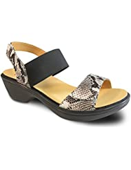 Revere Valencia Womens Comfort Sandal w. Removable Foot Bed & Adjustable Straps Leather Velcro