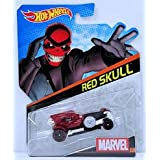 Hot Wheels Marvel Character Car Red Skull # 21, 1:64 Scale