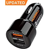 2018 HUSSELL 5.4A 30W Dual USB Car Charger Adapter - Quick Charge 3.0 3A + Smart IC 2.4A - Compatible with iPhone Xs X 8 7 6 5 Plus Max Samsung Galaxy S9 S8 S7 S6 etc. - Fast Chargers - Updated
