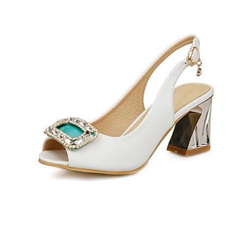 BalaMasa Crystals Womens Studded Crystals BalaMasa Travel Urethane Sandals ASL05519 Parent B07FYSMQ8R cf809e