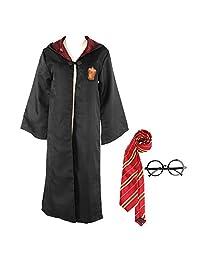 Yanhusu Robe Cloak Hooded Cosplay Costume Unisex Kid Child Adult Halloween