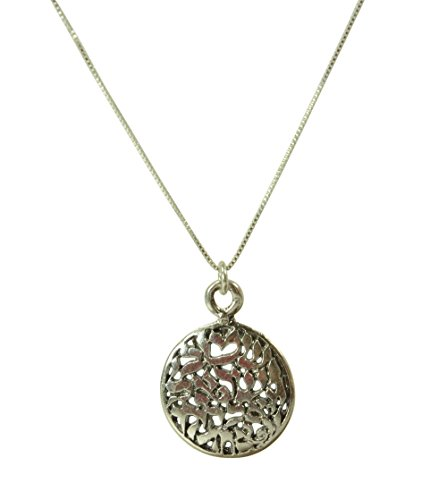 Sterling Silver Shema Israel Necklace and Pendant – Handmade Silver Jewelry Men  Women