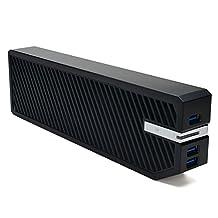 "AGPtEK® 2-IN-1 Hard Drive Enclosure & Media HUB for XBOX ONE, 2.5"" Hard Drive Enclosure with 3 Front 3.0 USB Ports, Supports Up to 3TB - Black"
