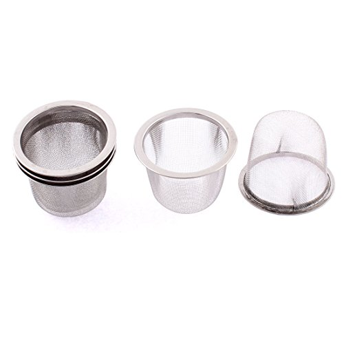 uxcell Stainless Steel Home Mesh Tea Infuser Strainer Basket 60mm Dia 5 Pcs