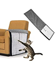 Andiker Cat Scratch Pad, 2 in 1 Use Cat Scratching Mat & Natural Sisal Fabric Sofa Shield Furniture Pad Durable & Washable Cat Scratcher Pad Cover with One Cute Ball (46 11.4 in) (Long)