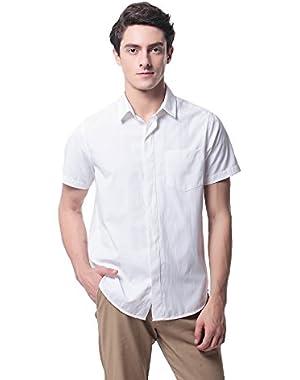 P-09 Men's Regular Fit Casual Short Sleeve Shirts