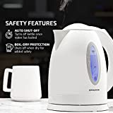 Ovente Electric Hot Water Kettle 1.7 Liter with LED