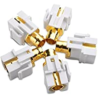 Cable Matters (5-Pack) Gold-Plated BNC Keystone Jack Inserts in White