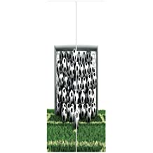 iPrint 3d Door Wall Mural Wallpaper Stickers [ Sports Decor,Goal Net Full of Soccer Balls on the Football Field Schoolyard Victory, Mural Door Wall Stickers Wallpaper Mural DIY Home Decor
