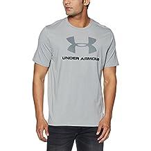 Under Armour Men's Sportstyle Logo T-Shirt, True Gray Heather/Graphite , XXX-Large